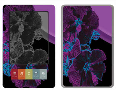 Barnes &amp; Noble Nook Skin :: Cosmic Flowers 1