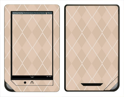 Barnes & Noble Nook Color Skin :: Argyle Tan