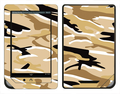 Barnes & Noble Nook Color Skin :: Camo Desert