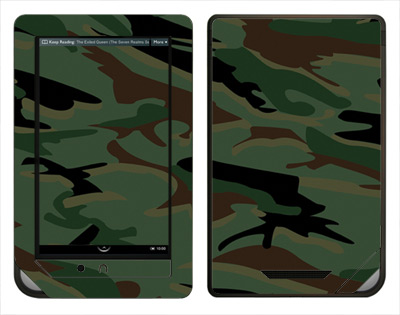 Barnes & Noble Nook Color Skin :: Camo Green