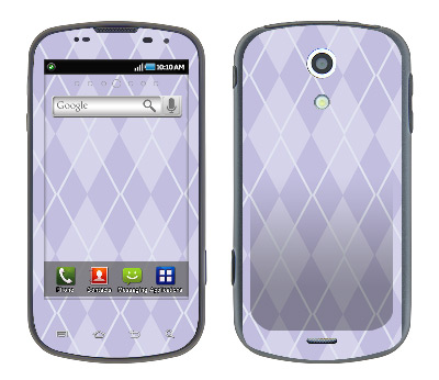 Samsung Epic Skin :: Argyle Purple