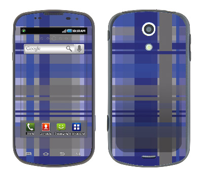 Samsung Epic Skin :: Oceans Deep Plaid