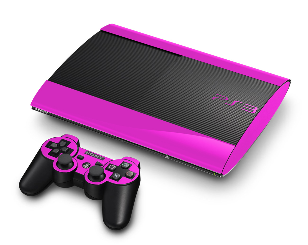 Sony PlayStation 3 Super Slim Gaming Console Skin    PinkPs3 Super Slim Pink