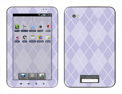 Samsung Galaxy Tab Skin :: Argyle Purple