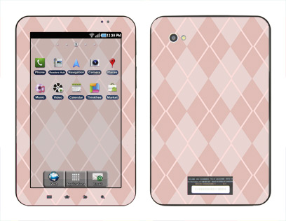 Samsung Galaxy Tab Skin :: Argyle Red