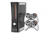 Microsoft Xbox 360 Skin :: Black Chrome