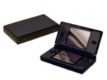 Nintendo DS Lite Skin :: Black Chrome