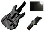Guitar Hero 5 Genericaster Guitar for the Wii Skin :: Black Chrome