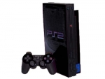 Sony PlayStation 2 Skin :: Black Chrome
