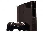 Sony PlayStation 3 Slim Skin :: Black Chrome