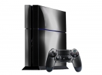 Sony PlayStation 4 Skin :: Black Chrome