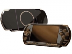 Sony PSP 3000 Skin :: Black Chrome