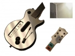Guitar Hero 3 Les Paul Guitar for the Nintendo Wii Skin :: Silver Chrome
