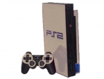 Sony PlayStation 2 Skin :: Silver Chrome