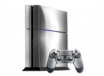 Sony PlayStation 4 Skin :: Silver Chrome