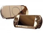 Sony PSP 3000 Skin :: Silver Chrome