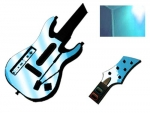 Guitar Hero 5 Genericaster Guitar for the Wii Skin :: Sky Blue Chrome