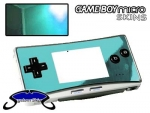 Nintendo Gameboy Micro Skin :: Sky Blue Chrome