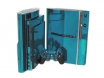 Sony PlayStation 3 Skin :: Sky Blue Chrome