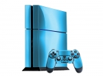 Sony PlayStation 4 Skin :: Sky Blue Chrome