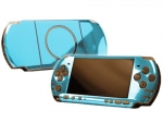 Sony PSP 3000 Skin :: Sky Blue Chrome