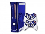 Microsoft Xbox 360 Skin :: Blue Chrome