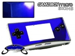 Nintendo Gameboy Micro Skin :: Blue Chrome