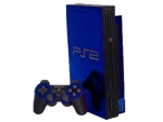 Sony PlayStation 2 Skin :: Blue Chrome