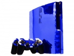 Sony PlayStation 3 Slim Skin :: Blue Chrome