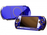 Sony PSP 3000 Skin :: Blue Chrome