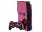 Sony PlayStation 2 Skin :: Pink Chrome