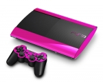 Sony PlayStation 3 Super Slim Skin :: Pink Chrome