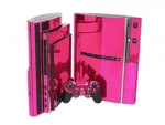 Sony PlayStation 3 Skin :: Pink Chrome