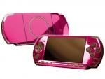 Sony PSP 3000 Skin :: Pink Chrome