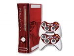 Microsoft Xbox 360 Skin :: Red Chrome