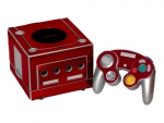 Nintendo GameCube Skin :: Red Chrome
