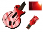 Guitar Hero 3 Les Paul Guitar for the Nintendo Wii Skin :: Red Chrome