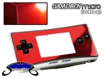 Nintendo Gameboy Micro Skin :: Red Chrome