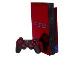 Sony PlayStation 2 Skin :: Red Chrome