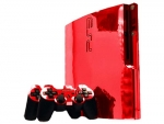 Sony PlayStation 3 Slim Skin :: Red Chrome