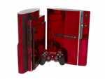 Sony PlayStation 3 Skin :: Red Chrome