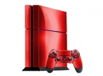 Sony PlayStation 4 Skin :: Red Chrome