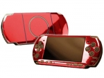 Sony PSP 3000 Skin :: Red Chrome