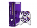Microsoft Xbox 360 Skin :: Purple Chrome