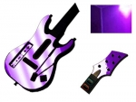 Guitar Hero 5 Genericaster Guitar for the Wii Skin :: Purple Chrome