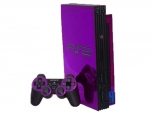 Sony PlayStation 2 Skin :: Purple Chrome