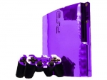 Sony PlayStation 3 Slim Skin :: Purple Chrome