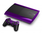 Sony PlayStation 3 Super Slim Skin :: Purple Chrome