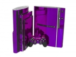 Sony PlayStation 3 Skin :: Purple Chrome