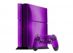 Sony PlayStation 4 Skin :: Purple Chrome